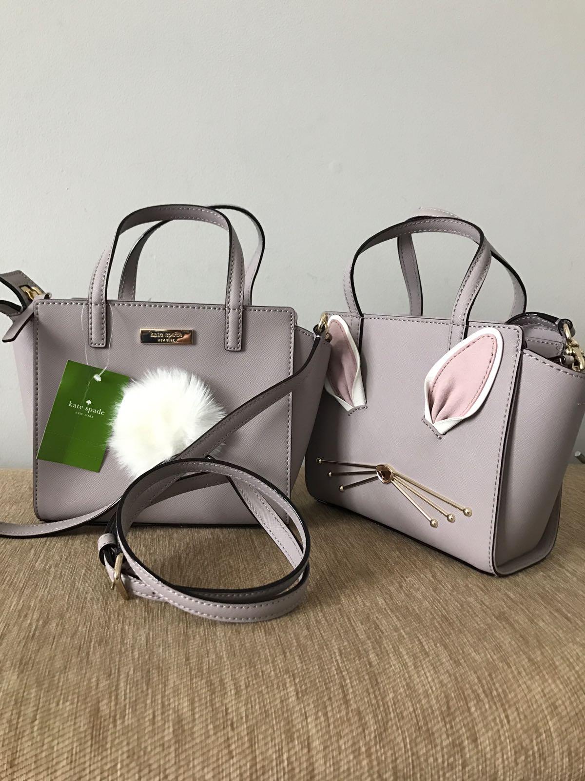 Handbags Kate Spade Mini Hayden Rabbit Hop To It Pink View Detailed Images 4