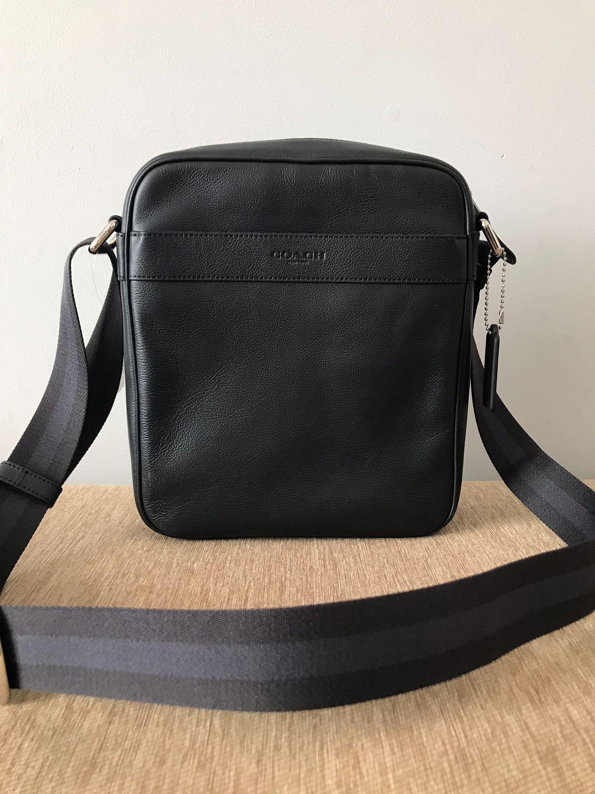 ... italy coach mens flight bag smith leather crossbody black. view  detailed images 3 d1932 0788f 55461f5499e4e
