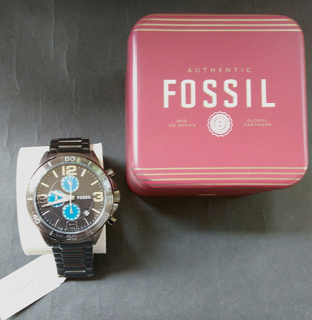 Fossil Watch Mens BQ2164 Gunmetal Grey