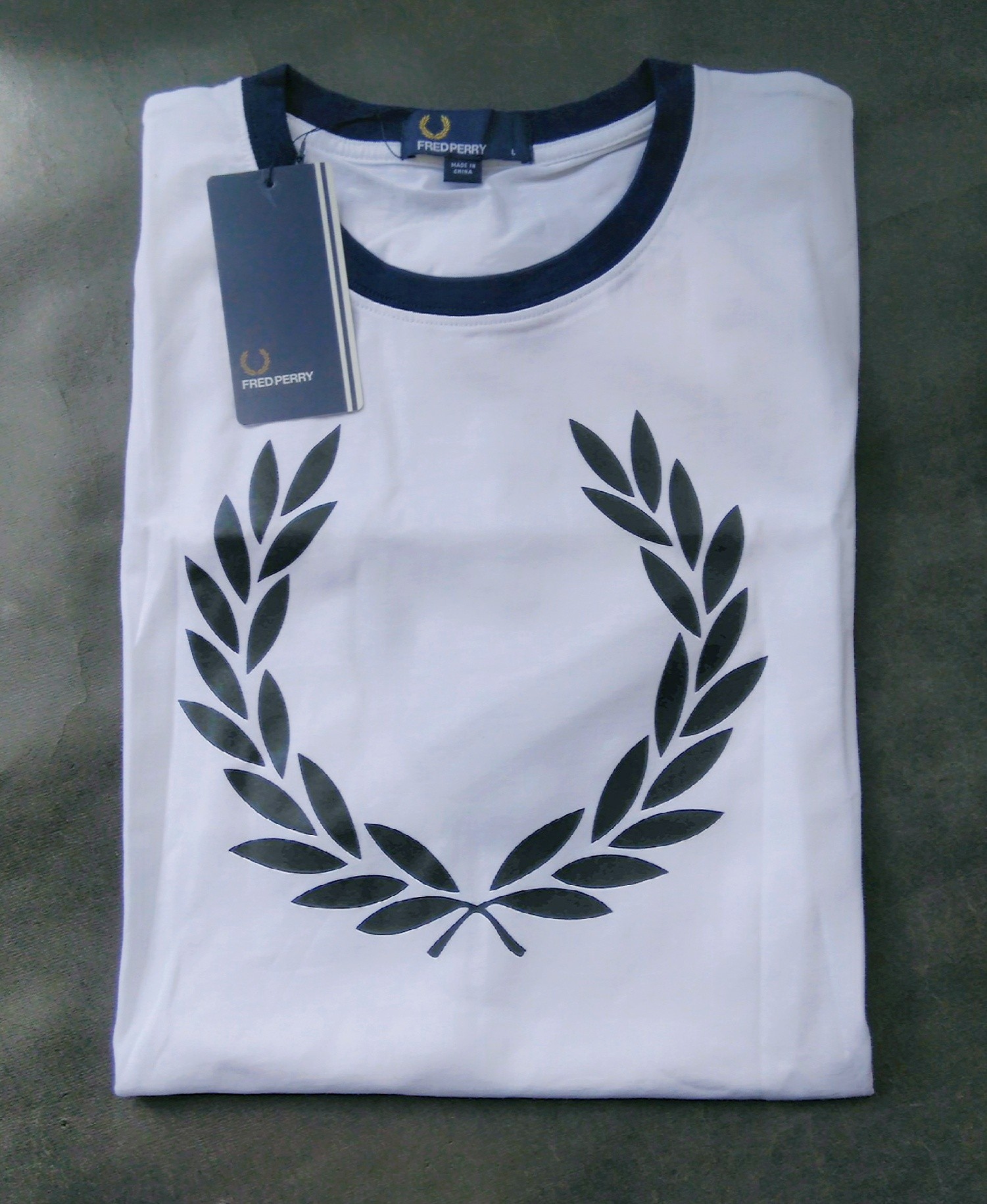 Fred Perry Laurel Wreath Ringer T-shirt White
