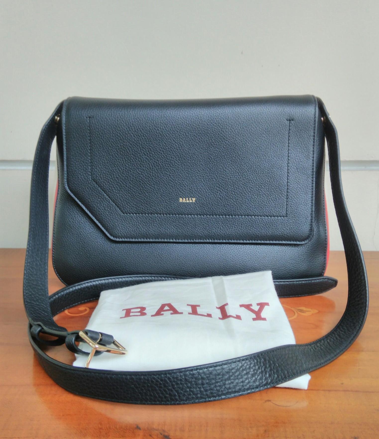 563ad4c234ad Prebu.com    Handbags    Bally Black Bovine Grained