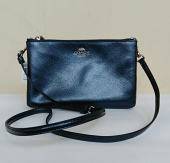 Coach Lyla Crossbody Metallic Midnight Navy