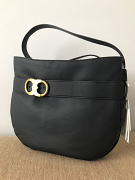 Tory Burch Gemini Belted Hobo Black