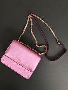 Tory Burch Crinkle Metallic Mini Shoulder Bag Pink