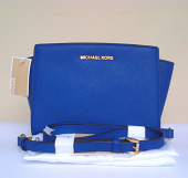 Michael Kors Selma Medium Messenger Electric Blue