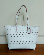 Coach Perf Leather City Tote Chalk