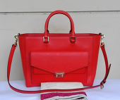 Tory Burch t.lock ew saffiano tote-crossbody masaai Red
