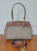 Coach Signature Brooke Carryall Khaki/Saddle