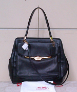 Coach madison leather NS satchel Black