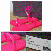 Tory Burch jelly slide Fluo Pink