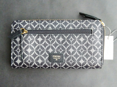 Fossil Tessa Zip Around Wallet Black Multi