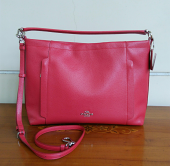 Coach Leather Hobo Red