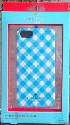 Kate Spade iphone 5 gingham blue