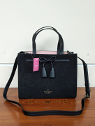 Kate Spade Hayes Suede Small Satchel Black