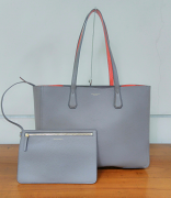 Tory Burch Phoebe Tote Silver Maple/Tangerine