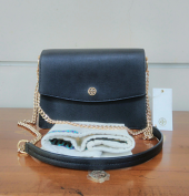 Tory Burch Parker Convertible Shoulder bag Black/Cardamon