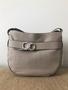 Tory Burch Gemini Belted Hobo French Grey