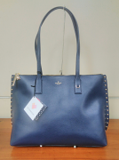 Kate Spade Studded Leather Tote French Navy