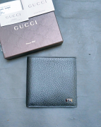 Gucci Wallet Mens Leather Black