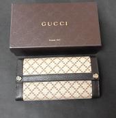 Gucci Wallet Continental Diamante Brown