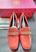 Tory Burch Gemini Link Loafer Kid Leather Light Redwood