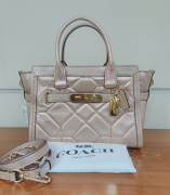 Coach Swagger 27 Carryall Metallic Patchwork