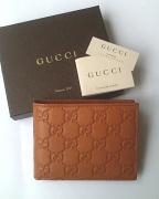 Gucci Wallet Mens Leather GG Saffron