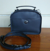 Coach Pail Retro Leather Lunch Midnight