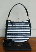 Kate Spade Cobble Hill Straw Mylie Black/Cement