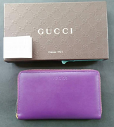 Gucci Wallet Large zip Violet