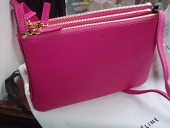 Celine Large Trio Fuschia