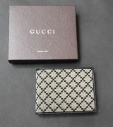 Gucci Wallet Mens Diamante Beige/Black