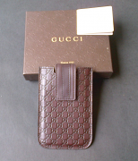 Gucci Case Phone Brown Leather