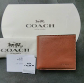Coach Compact Id sprt Calf Dark Saddle