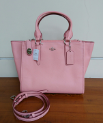Coach Crosby Large Carryall Crossgrain Street Pink