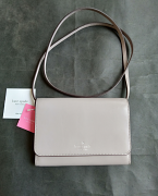 Kate Spade Kerri Small Flap Wallet on Soft Taupe