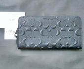 Coach Wallet Accordion sig Crossgrain Black