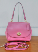 Coach mxd Leather Faye Carryall Rouge