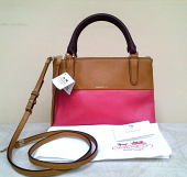 Coach mini bright retro color block loganberry tan