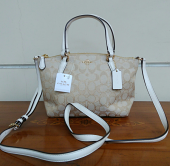 Coach Mini Kelsey Sign Khaki/Chalk