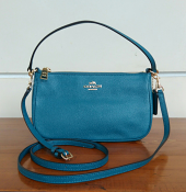 Coach xgrn top handle Pouch Dark Teal
