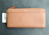 Fossil Tessa Zip Around Wallet Brown