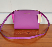 Michael Kors Selma Med Messenger Pom Granite Multi