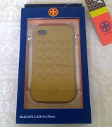 Tory Burch iPhone 4/4s Silicone Case Green Amber Multi Pyramid Stud