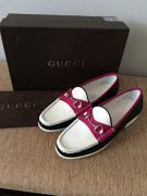 Gucci Loafers Nero Bianco