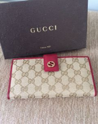 Gucci Continental GG wallet Beige Red