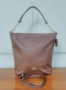 Coach Leather Abby Duffle Heather Saddle