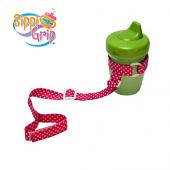 BooginHead SippiGrip (Pink Polka Dot)
